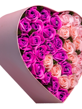 33 de trandafiri din sapun - inima