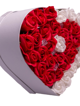 Inima in alb si rosu